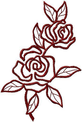 Růže na ubrus