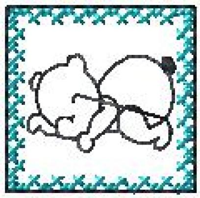 Rám-Spící medvěd