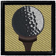 Golfový míček - nášivka