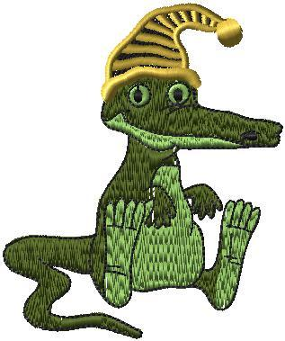 Krokodýl s čepicí