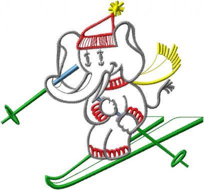 Slon na lyžích