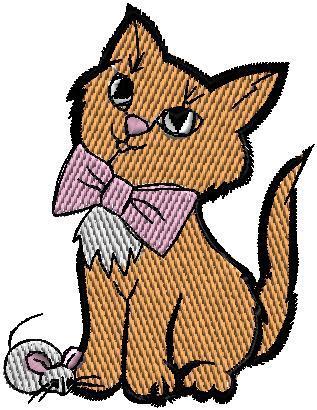 Kočka s mašlí
