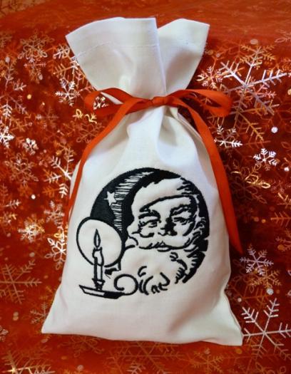Dárkový pytlík vánoční - Santa Claus