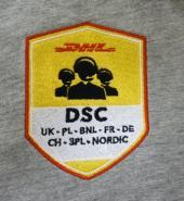 Dodávka textilu s výšivkami pro firmu DHL Praha