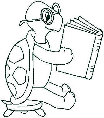 Želva s knihou