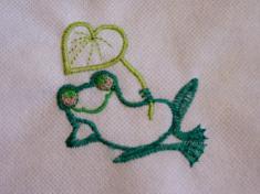 žába s listem