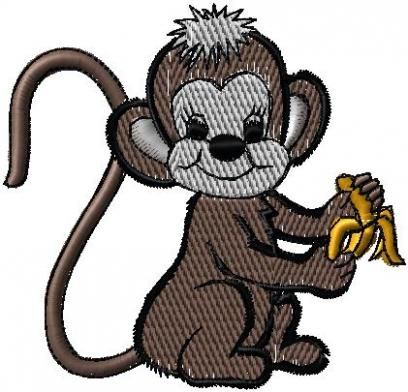 Opička s banánem