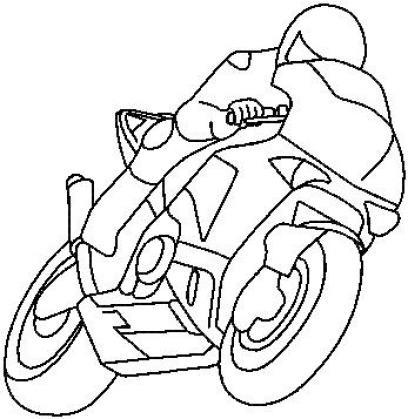 Motorka obrys