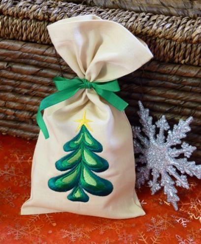 Dárkový pytlík vánoční - stromeček
