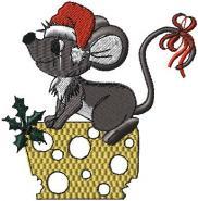 vánoční myška se sýrem